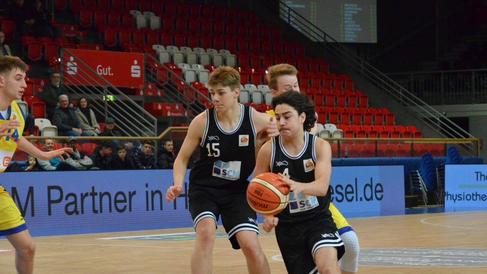 WWU Baskets Münster: Max Schell (15) und Lorenz Neuhaus (4)