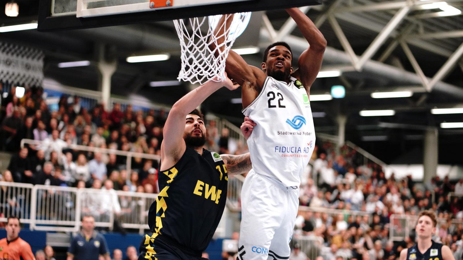 Malcolm Delpeche Münster Basketball